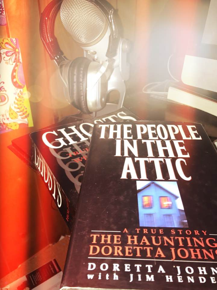 ghost books and microphone