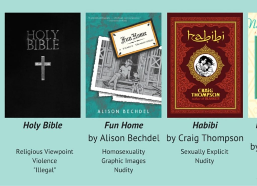 selection of books from 2015, including the Bible