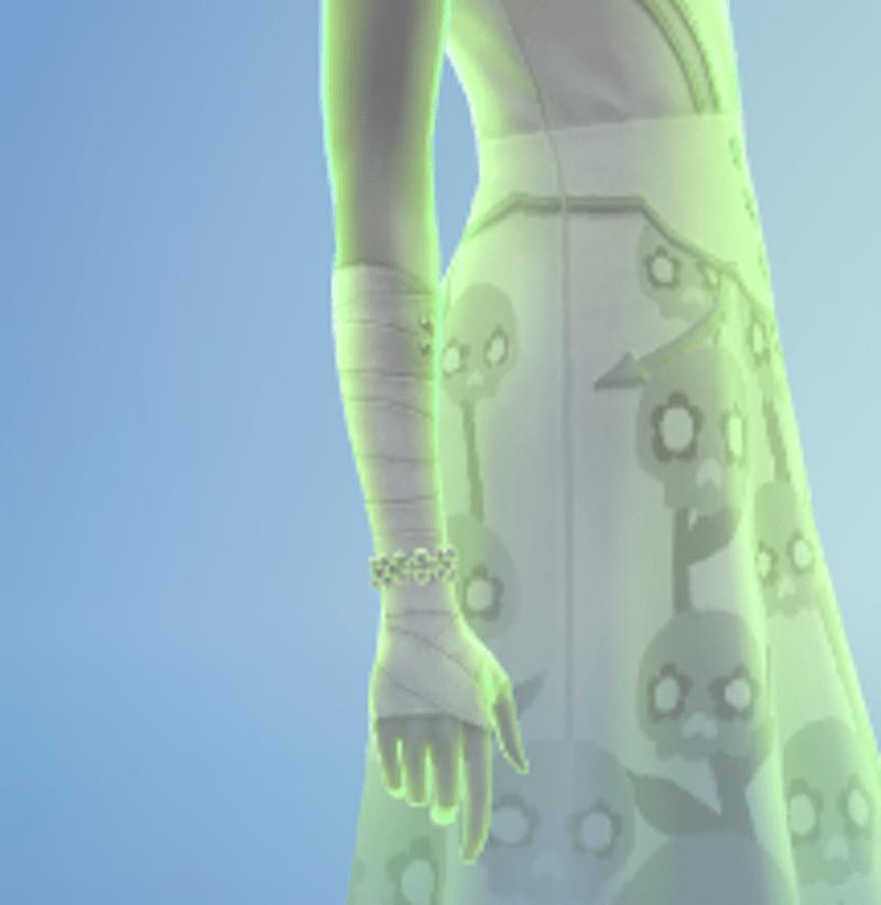 Eve's arm bandage
