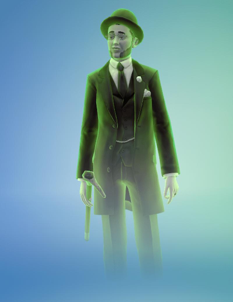 Felix with cane